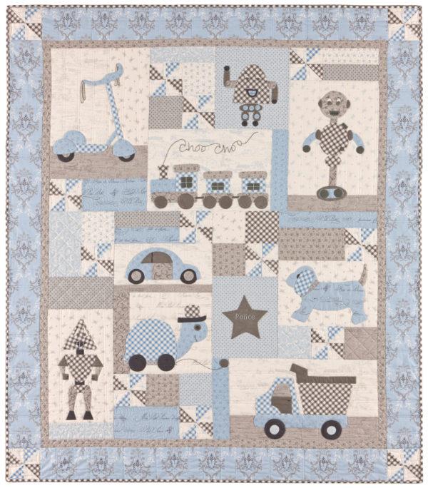 Ooh la la bunny tales for Quilt material for boys
